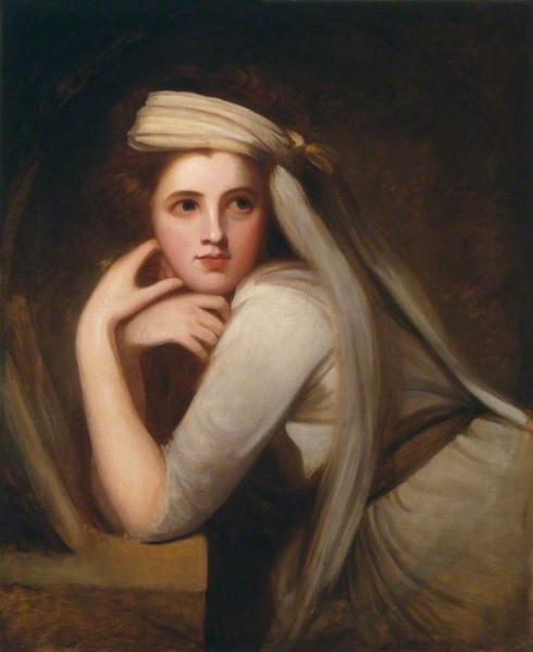 Emmy, Lady Hamilton, oil on canvas, circa 1875, on display at the National Portrait Gallery, London