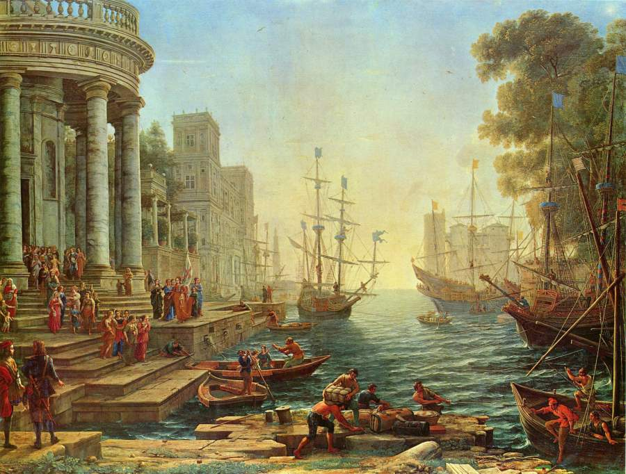 Seaport with the Embarkation of St. Ursula The National Gallery wikipaintings.org