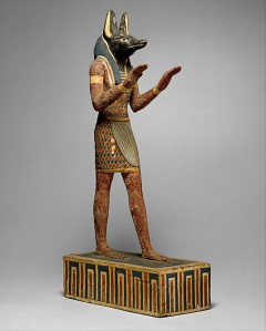 Statuette of Anubis wood, gesso, paint 332-30 BC The Metropolitan Museum www.metmuseum.org