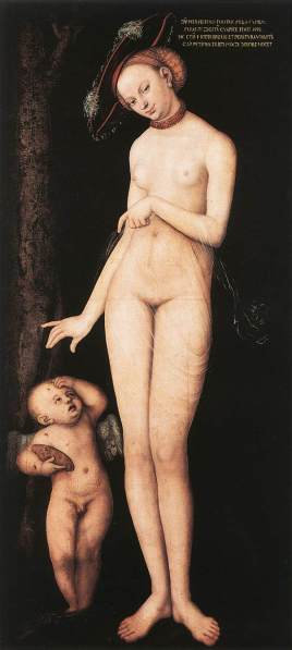 Venus with Cupid Lucas Cranach the Elder, 1531 Royal Museum of Fine Arts of Belgium photo from Wikimedia Commons