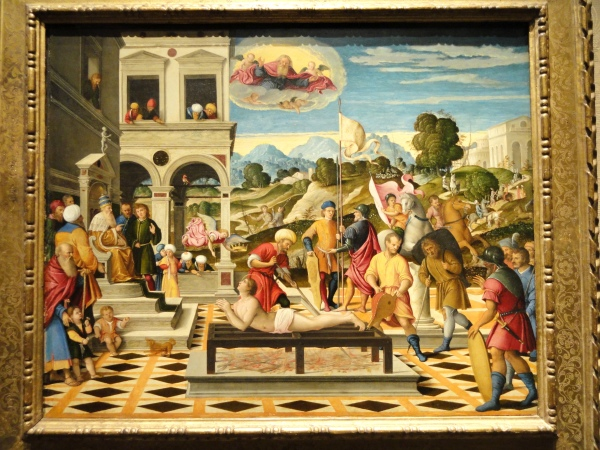 Martyrdom of Saint Lawrence, Girolamo da Santacroce, Venice, 1550-1555 - Nelson-Atkins Museum of Art photo by Daderot from Wikimedia Commons