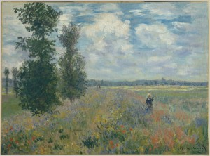 "Poppy Field, Argenteuil, 1875 Claude Monet (French, 1840–1926) Oil on canvas  21 1/4 x 29 in. (54 x 73.7 cm) Signed (lower right): Claude Monet The Walter H. and Leonore Annenberg Collection, Gift of Walter H. and Leonore Annenberg, 2001, Bequest of Walter H. Annenberg, 2002 (2001.202.5) ""Claude Monet: Poppy Field, Argenteuil (2001.202.5)"". In Heilbrunn Timeline of Art History. New York: The Metropolitan Museum of Art, 2000–. http://www.metmuseum.org/toah/works-of-art/2001.202.5 (December 2008)"