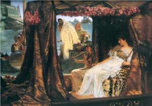 Anthony and Cleopatra Alma-Tadema 1883 private collection photo in public domain for Wikipaintings