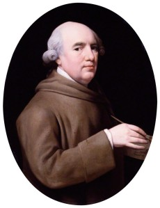 Self Portrait by George Stubbs, enamel on Wedgwood plaque, 1781 National Portrait Gallery NPG 4575 with permission