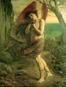 Love in Autumn Simeon Solomon, 1866 photo public domain for Wikimedia Commons better images available at