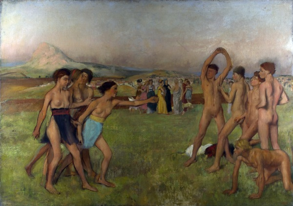 Young Spartans Exercising Edgar Degas, 1860 National Gallery photo in public domain for Wikipedia Commons