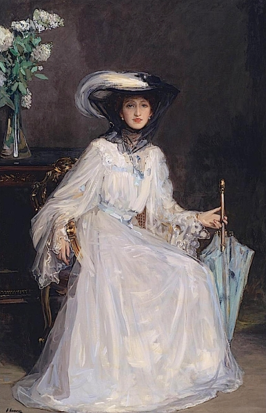 Lady Evelyn Farquhar Sir John Lavery, 1907 www.the-athenaeum.org/art/full.php?ID=64319