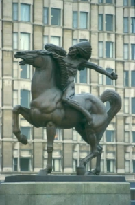 The Spearman Ivan Mestrovic, 1928 Chicago photo by Einar Einarsson Kvaran from Wikimedia Commons by Creative Commons Attribution-ShareAlike 3.0 licence