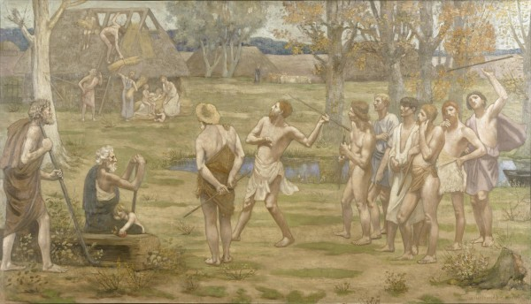 Ludus Pro Patria Pierre Puvis de Chavannes, 1883 oil on canvas H: 44 11/16 x W: 77 9/16 in. The Walters Art Museum Creative Commons Attribution-Share Alike 3.0 Unported License