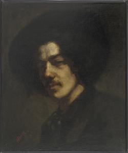 Portrait of Whistler with a Hat James McNeill Whistler, 1857-1859 The Freer Gallery Oil on canvas H: 46.3 W: 38.1 cm