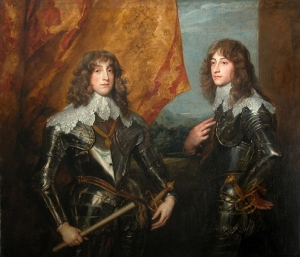 Princes Palatins Van Dyck, 1637 Louvre Museum public domain photo from Wikimedia Commons