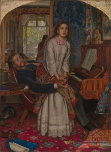 The Awakening Conscience William Holman Hunt, 1853 oil on canvas The Tate, Britain public domain photo from Wikimedia Commons