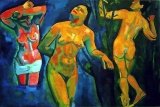 The Bathers Andre  Derain, 1907 picture from Pinterest in collection of Museum of Modern Art, NY