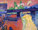 Charing Cross Bridge Andre Derain, 1906 National Gallery of Art, Washington photo in US public domain from Wikipedia; copyrighted in France until 2025