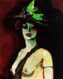 Woman with a Large Hat Kees Van Dongen, 1906 photo public domain in US from Wikipedia Copyright presumed to be estate of Kees van Dongen.