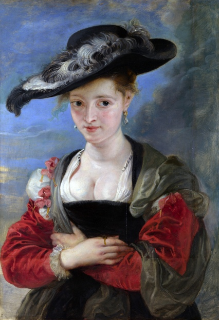 Le Chapeau de Paille Peter Paul Rubens, ~1623 oil on oak, 31 by 21.5 inches The National Gallery, London photo from Wikimedia Commons