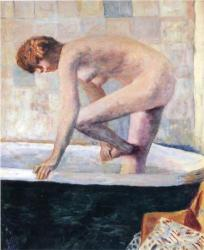 Nude Washing Feet in Bathtub Pierre Bonnard, 1924 oil on canvas, 42 x 38 in. Private Collection, copyright status unknown image from Wikipaintings. org