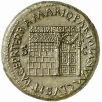 Roman coin from Nero's reign showing the Gates of the Temple of Janus picture from Classical Numismatic Group, Inc. http://www.cngcoins.com via Wikimedia Commons