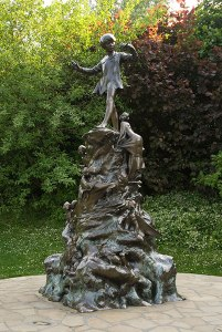 Peter Pan Sir George Frampton, 1902 Kensington Gardens
