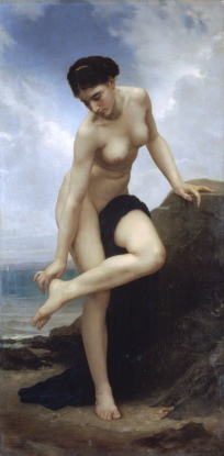 Nude After the Bath William-Adolphe Bouguereau, 1875 photo public domain from Wikipedia.org