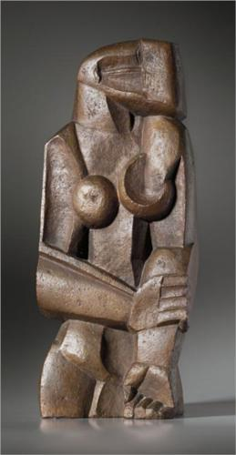 Femme Debout Ossip Zadkine, 1922 sculpture, Susse Foundry, Paris photo from Wikipaintings .org This artwork may be protected by copyright.