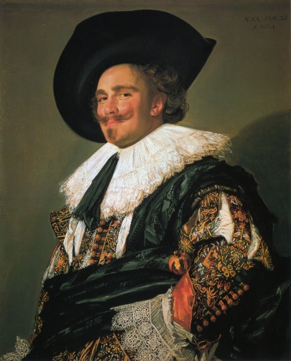 The Laughing Cavalier Frans Hals, 1624 oil on canvas, 33 X 27 in. Wallace Collection, London photo public domain from Wikimedia Commns