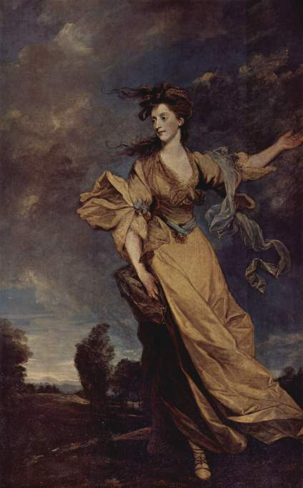 Portrait of Lady Jane Halliday Sir Josuya Reynolds, 1779 oil on canvas, 94 X 59 inches National Trust, Waddesdon Manor (Buckshire, Great Britian) photo public domain from the Yorck project via Wikimedia Commons