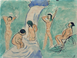 Bathers, Composition No. II, Henri Matisse, 1909. Watercolor on paper. The State Pushkin Museum of Fine Arts, Moscow possible copyright © 2010 Succession H. Matisse / Artists Rights Society (ARS), New York