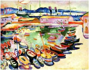 Port of La Ciotat Georges Braque, 1907 26 x 32 in <br />private collection <br />from Wikipainting.org <br />This artwork may be protected by copyright.