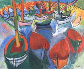Boats in Martigues Raoul Dufy, 1908