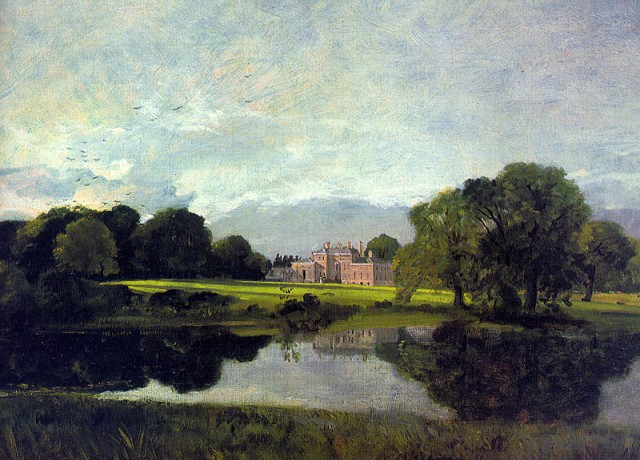 Malvern Hall John Constable, 1809 oil on canvas, 21 X 33 in Tate Museum image in public domain from Wikimedia Commons