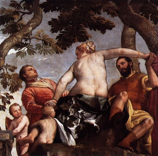 The Allegory of Love -- Infidelity Paolo Veronese, ~ 1570 76 X 76 inches The National Gallery, London image in public domain from WikiMedia Commons