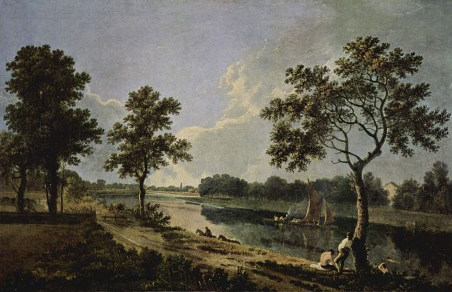 Richard Wilson, c. 1762 oil on canvas, 18 X 29 in The Tate  image in public domain from Wikimedia Commons