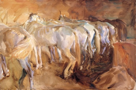 Bus Horses in Jerusalem John Singer Sargent, 1905 watercolor on paper, 16 X 21 in Isabel Stewart Gardner Museum, Boston