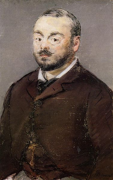 "Emmanuel Chabrier Edouard Manet, 1880 oil on canvas, 22 X 14 "" Ordrupgaard Museum, Denmark photo public domain from Wikimedia.com"