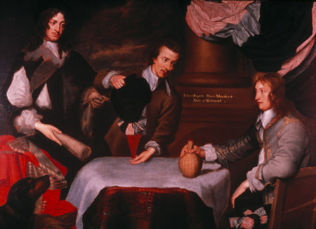 Prince Rupert , Colonel William Murray and Colonel, The Hon. John Russell William Dobson, circa 1640 oil on canvas, 60 x 82 in Ashdown House, Berkshire ©National Trust Images