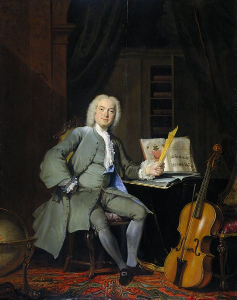 "Portrait of a Member of the Van der Mersch Family, Cornelis Troost, 1736 oil on panel, 29"" x 23"" Rijks Museum, Amsterdam"