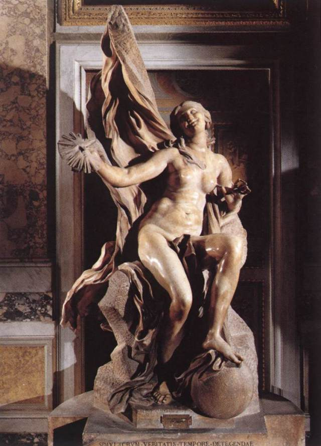Truth Unveiled by Time Gian Lorenzo Bernini, 1645-1652 Galleria Borghese, Rome photo in public domain from Wikimedia Commons