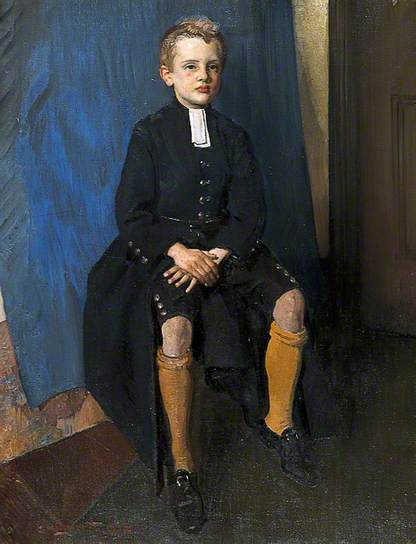 Constant Lambert as a Christ's Hospital Schoolboy George Washington Lambert, 1916 oil on canvas 50 x 37 in Christ's Hospital Foundation photo copyright Christ's Hospital Foundation from BBC Your Paintings