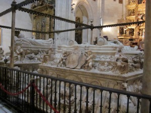 Sarcophagi of  King Ferdinand and Queen Isabella and King Philip I and Queen Joanna, Capilla Real, Alhambra, Granada, Spain,  photo from blog Seville Engineer