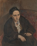 Gertrude Stein Pablo Picasso, 1905-1908 oil on canvas, 39 x 32 in Metropolitan Museum of Art, New York © 2011 Estate of Pablo Picasso / Artists Rights Society (ARS), New York