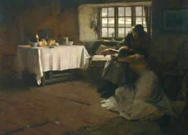 A Hopeless Dawn Frank Bramley, 1888 oil on canvas 49 x 67 in The Tate, London photo from The Tate via BBC Your Paintings