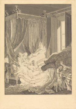 Nicolas Delaunay after  L'Epouse indiscrete Pierre-Antoine Baudouin (French, 1739 - 1792 ),  1771, etching Courtesty of theWidener Collection