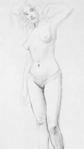 Nude Sketch Augustus John, 1909 The Slade; a collection of drawings and some pictures done by past and present students of the London Slade School of Art photo public domain from Wikimedia Commons