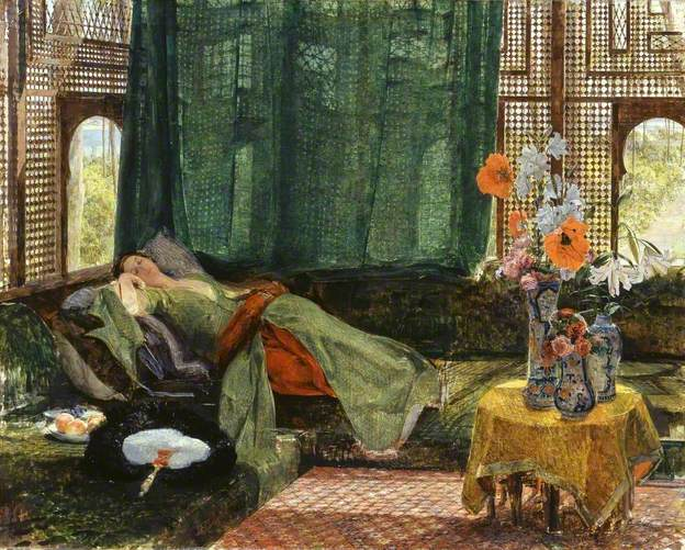 The Siesta John Frederick Lewis, 1876 Oil on canvas, 35 x 44 in The Tate photo from BBC Your Paintings