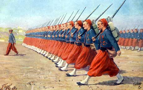 Zouaves Oillette postcard #8750 by Ralph Tuck and Sons Available at rarepostcard.com (accessed 2/14/15)