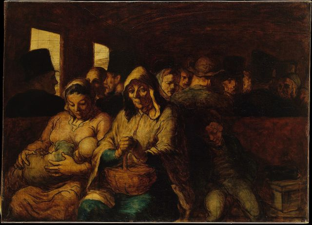 The Third Class Carriage Honoré Daumier, 1864 oil on canvas, 26 x 36 in The Metropolitan Museum photo in public domain from Wikipedia.org