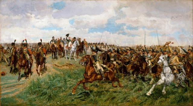 1807, Friedland Jean-Louis Ernest Meissonier - 1875 oil on canvas, 54 x 100 in Metropolitan Museum, New York photo in public domain from The Anthenaeum.org