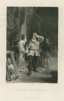 Cromwell and Lady Fauconberg P. Lightfoot after a painting by A. Chisholm, 1838 Steel engraving , 8 x 10 in  from Sir Walter Scott Woodstock, chapter 8 from the Walter Scott Image Collection, University of Edinburgh