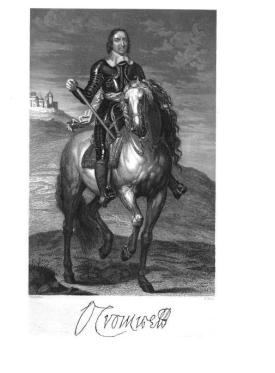 Oliver Cromwell George Cattermole engraving from drawing from Cattermole, Richard Great Civil War or The Times of Charles I. and Cromwell, Henry G. Bohn, London, 1852 via Google Books